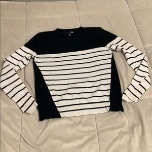 Aqua striped cashmere sweater